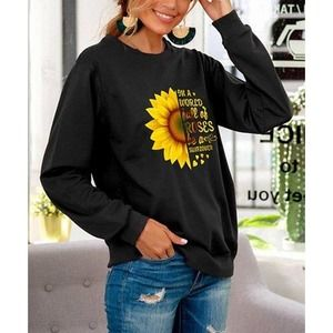 Zulily 'In a World Full of Roses' Sunflower Top